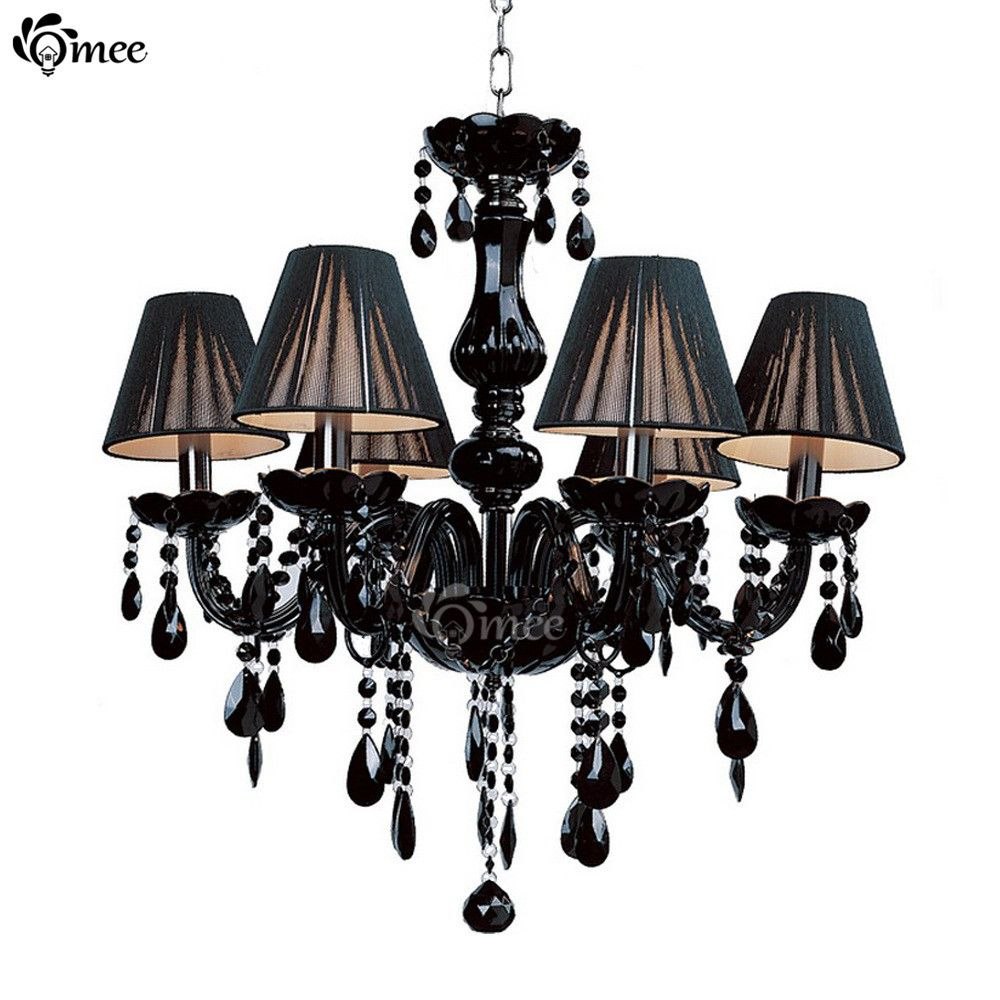 Modern Black Crystal Lights Crystal Chandeliers Pendant Lamp