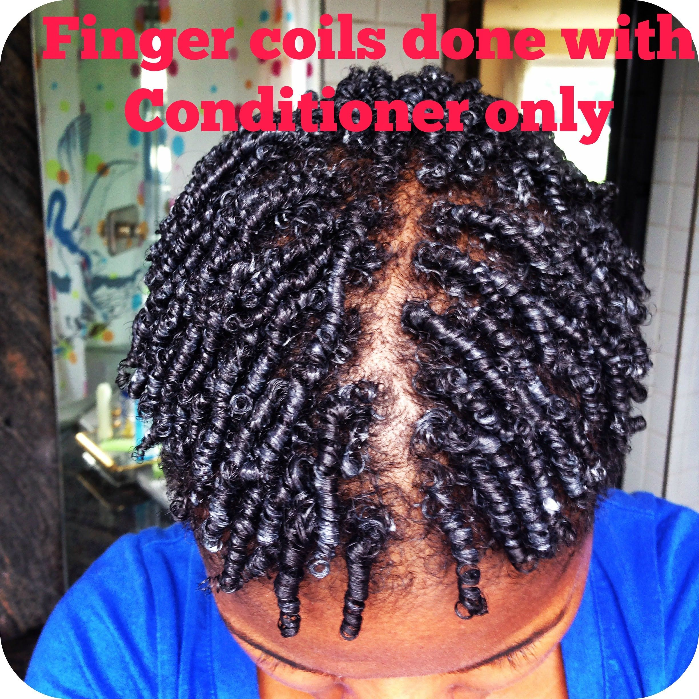 Natural Hair Style Finger Coils With Conditioner Only How To Thin Natural Hair Fine Natural Hair Natural Hair Styles