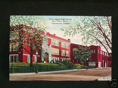 """Logansport High School - where I graduated from in 1973.  Looking down to the """"Berry Bowl"""".  Good memories."""