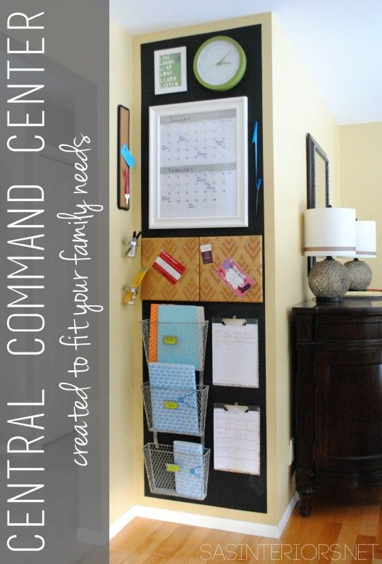20 Fabulous Command Centers | organize | Home command center, Family