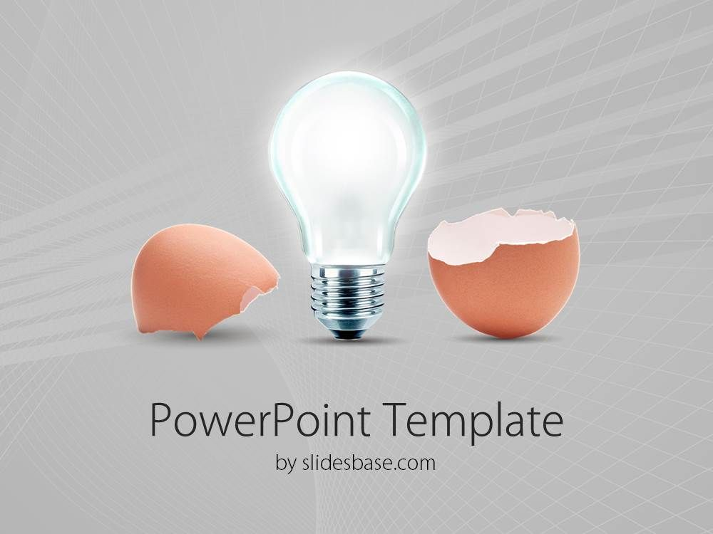 Hatching idea creative light bulb animated egg innovation business powerpoint template with an egg and light bulb symbolizes new ideas and innovation toneelgroepblik Gallery