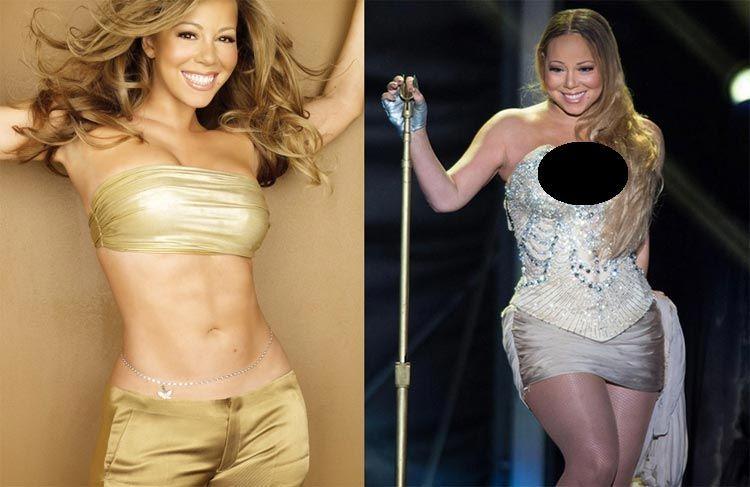 Mariah Carey Thin Fat Hollywood Celeb Pinterest