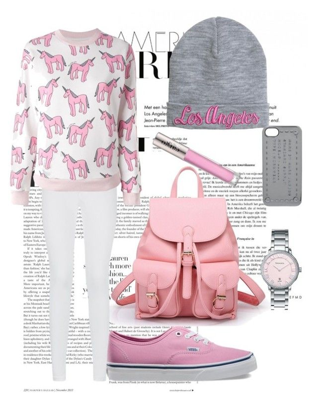 """""""Pink and grey"""" by sikber ❤ liked on Polyvore"""