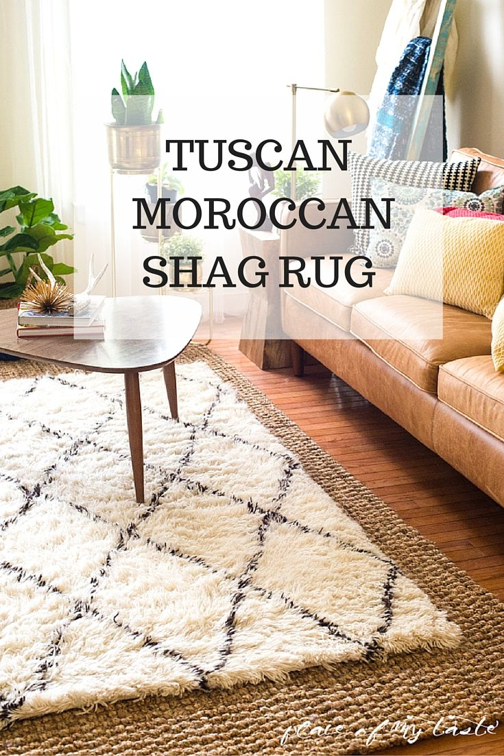 tuscan moroccan shag rug in the living room | shag rugs, moroccan
