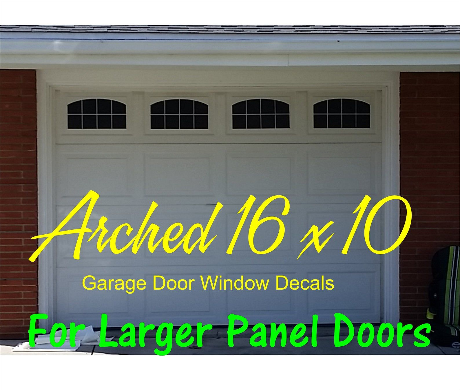 Carriage House Arched Window Style Faux Garage Door Vinyl Decals For 16 X 10 Panels With Images Garage Doors Faux Window Carriage Garage Doors