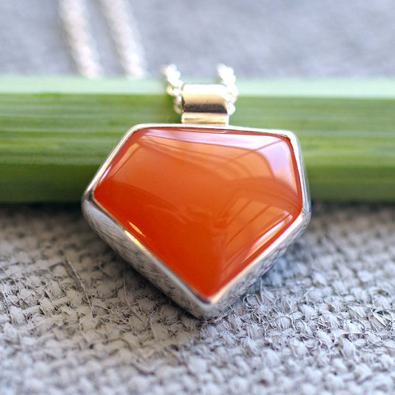 Juicy orange carnelian pendant in sterling by kyleannemetals etsy juicy orange carnelian pendant in sterling by kyleannemetals mozeypictures Gallery