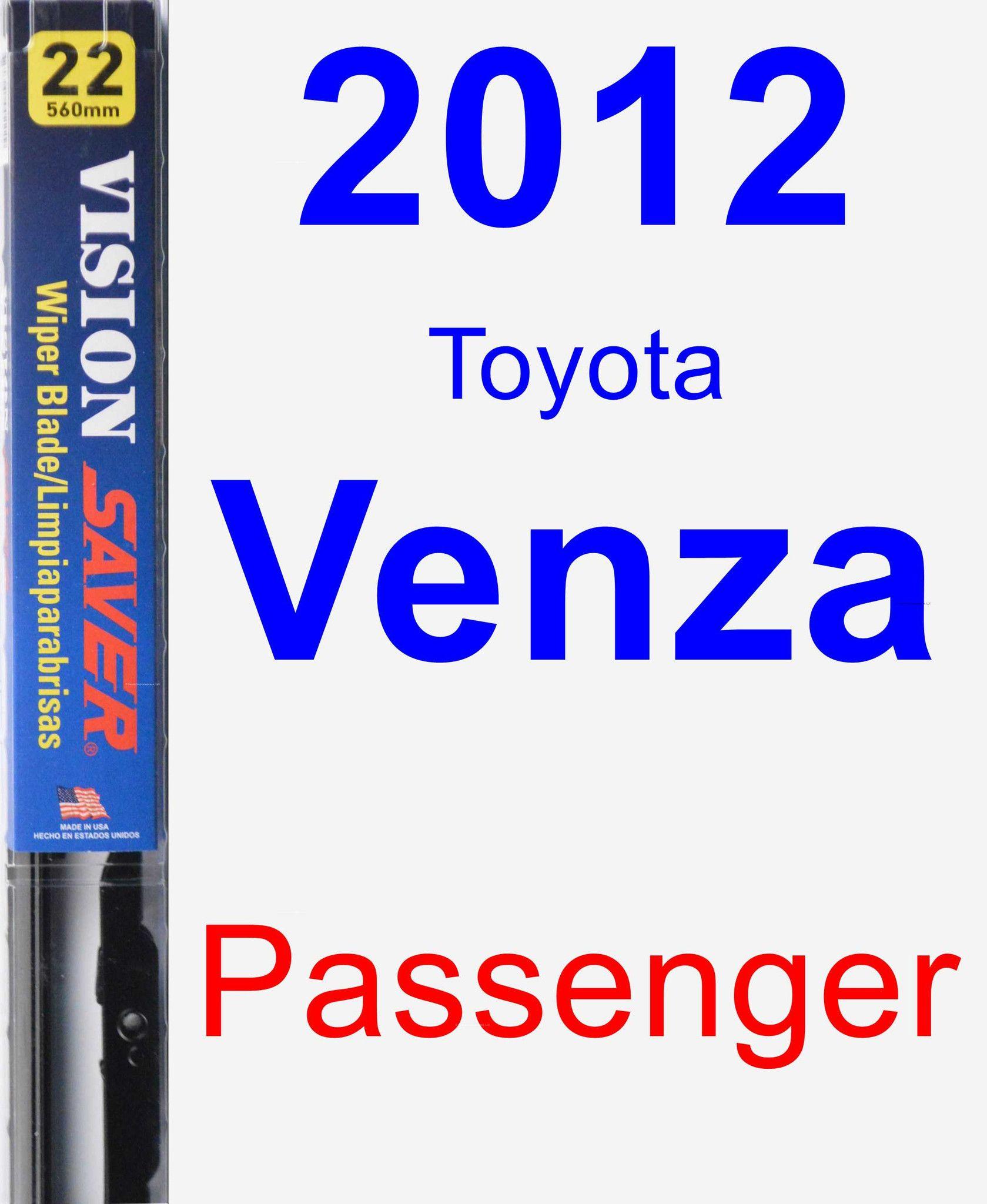 Passenger Wiper Blade for 2012 Toyota Venza - Vision Saver