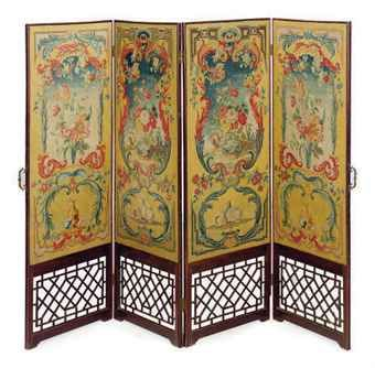 The dressing screen in Jane's dressing closet - a very pretty French needlework and mahogany four panel dressing screen. #SALTBRIDE #LucindaBrant #Georgian #HistoricalRomance #18thCentury #SaltHendonSeries