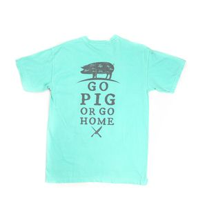Go Pig or Go Home Comfort Color T-Shirt without Pocket, Mint Color