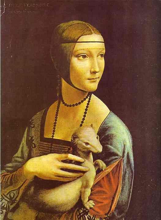 Leonardo Da Vinci Portrait Of Cecilia Galleran Da Vinci Art Hand Painting Art Art
