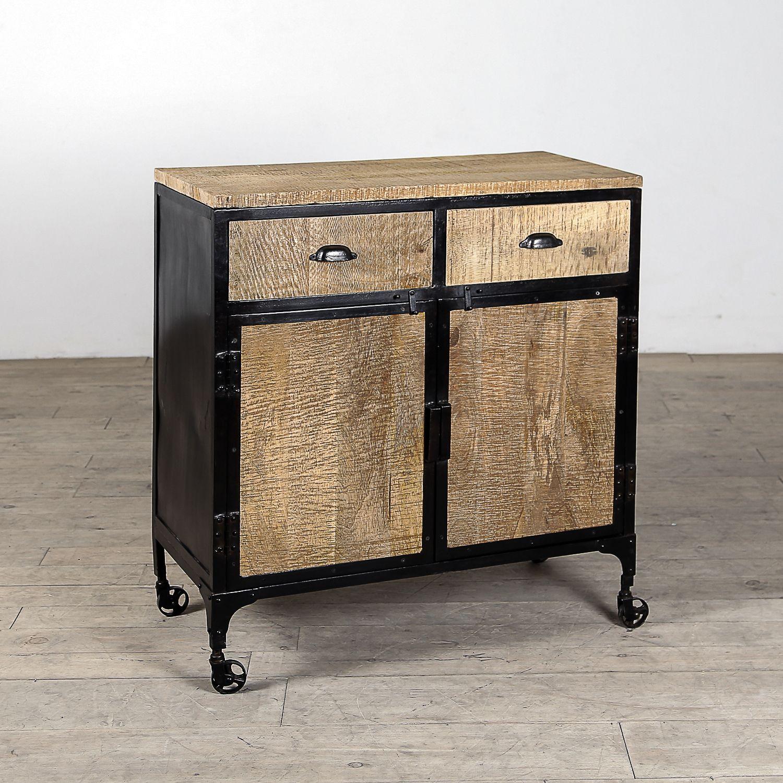 Steel Frame Kitchen Cabinets: Handmade Jean 2-drawer 2-door Sideboard Cabinet (India