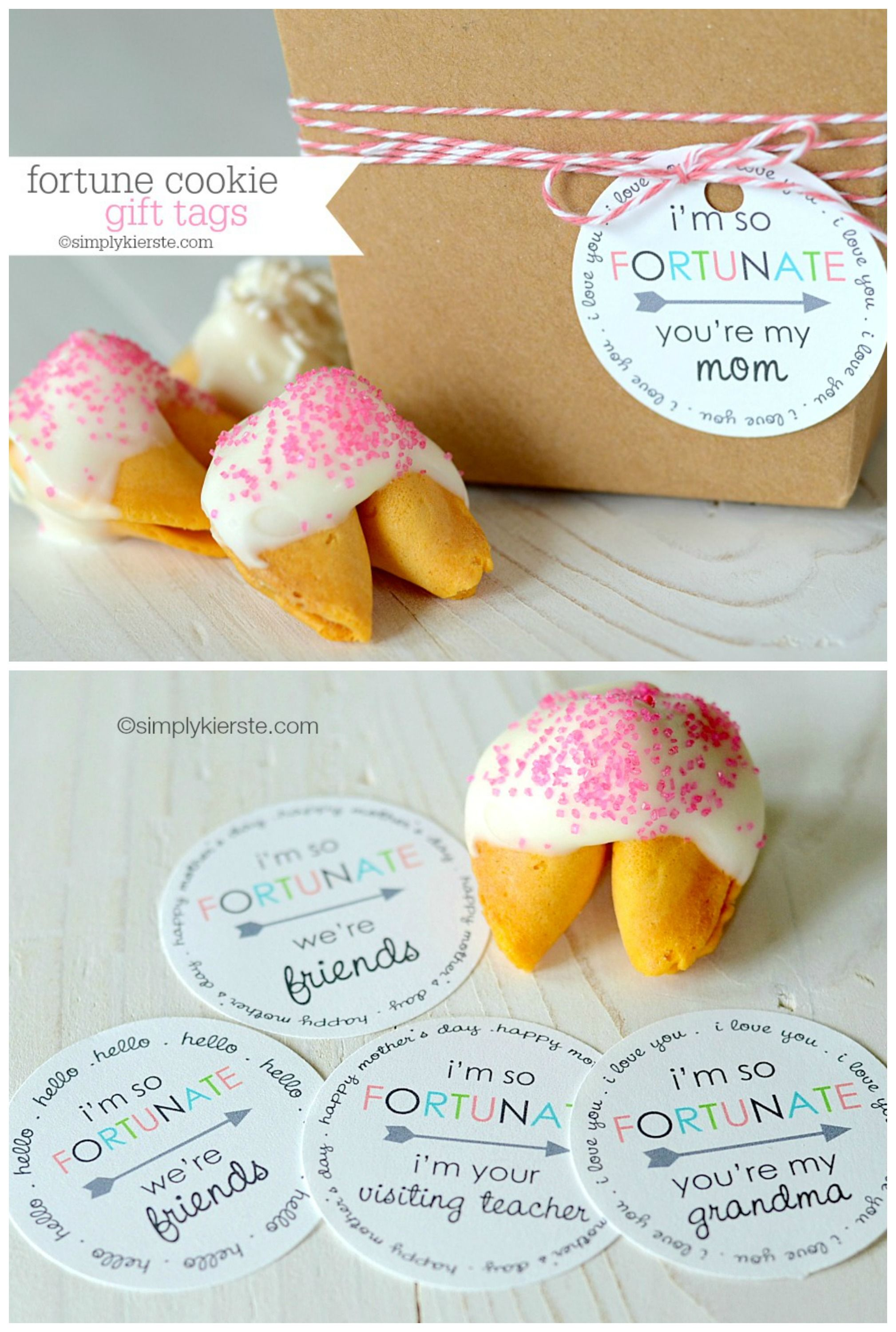 Fortune cookie gift tags cookie gifts free printable gift tags fortune cookie gift tags simplykierste free printable negle Choice Image