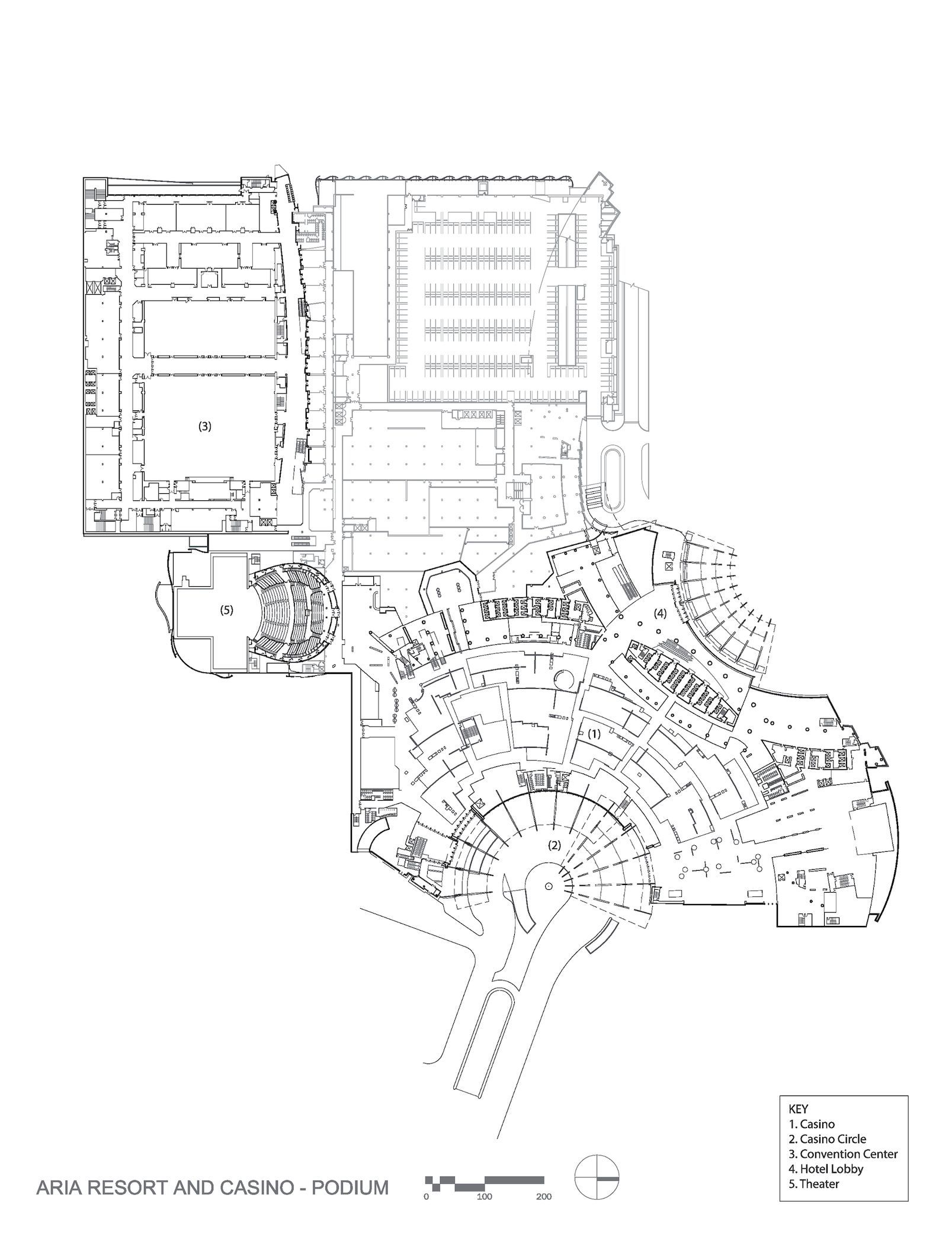 Aria Resort And Casino Hotel Floor Plan Ground Floor Plan