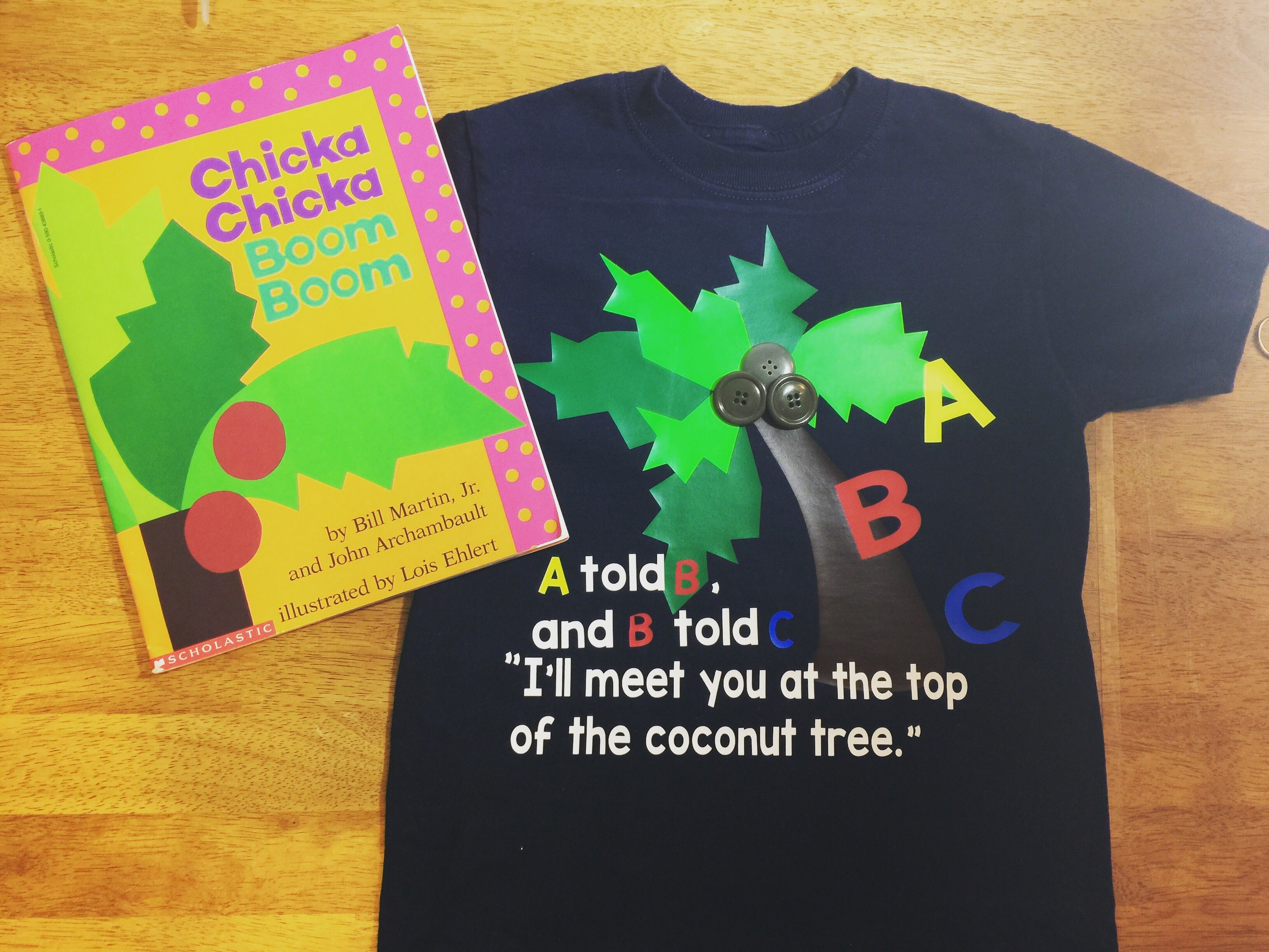 Chicka Chicka Boom Boom shirt for Book Character Day in Kindergarten ...