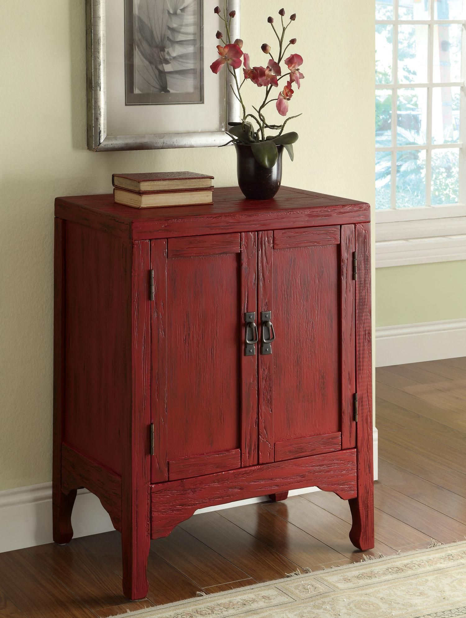 add a POPOFCOLOR with this accent cabinet neatly tuck away
