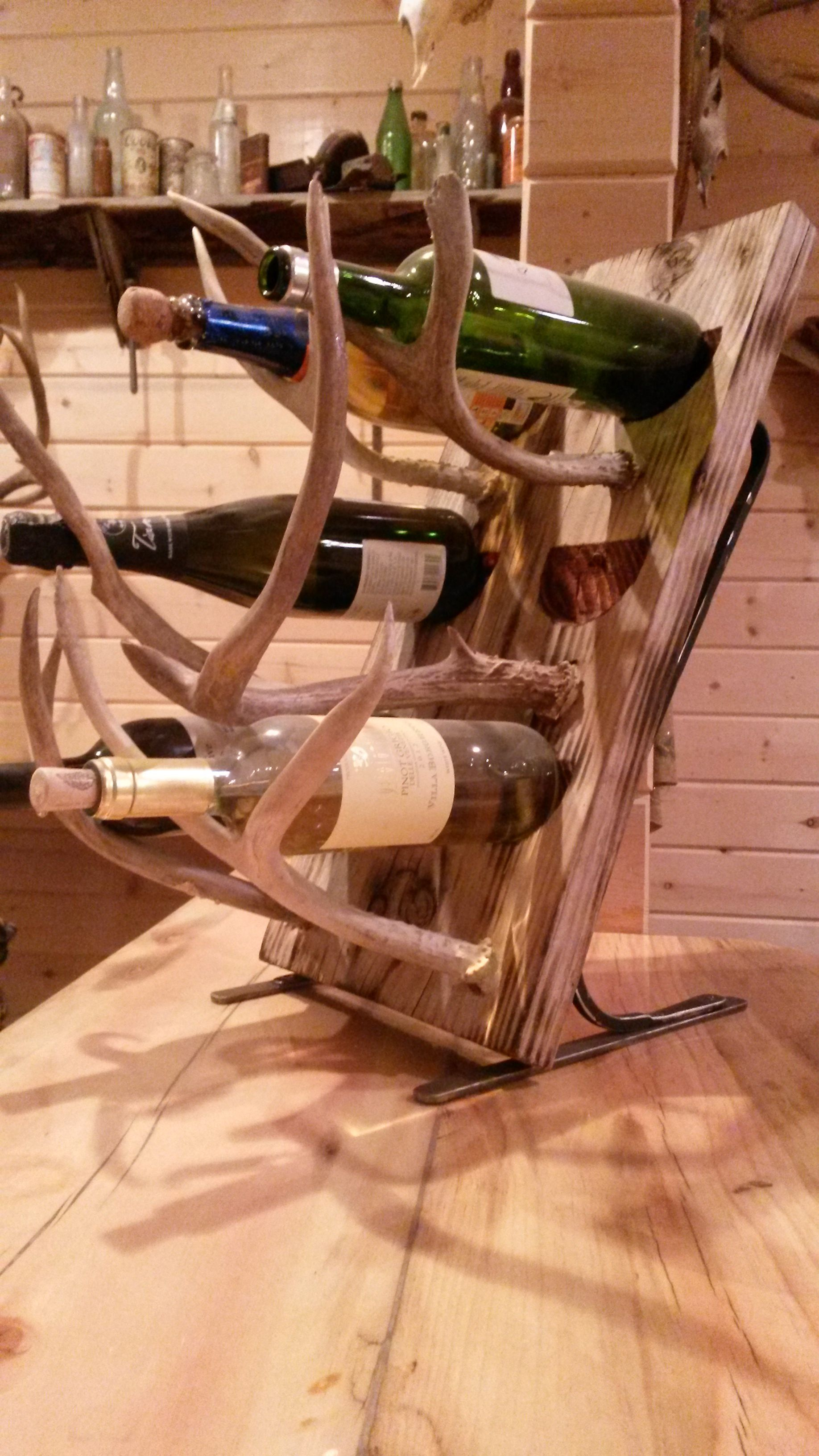 Antler wine rack | JLB style | Home decor, Antler crafts