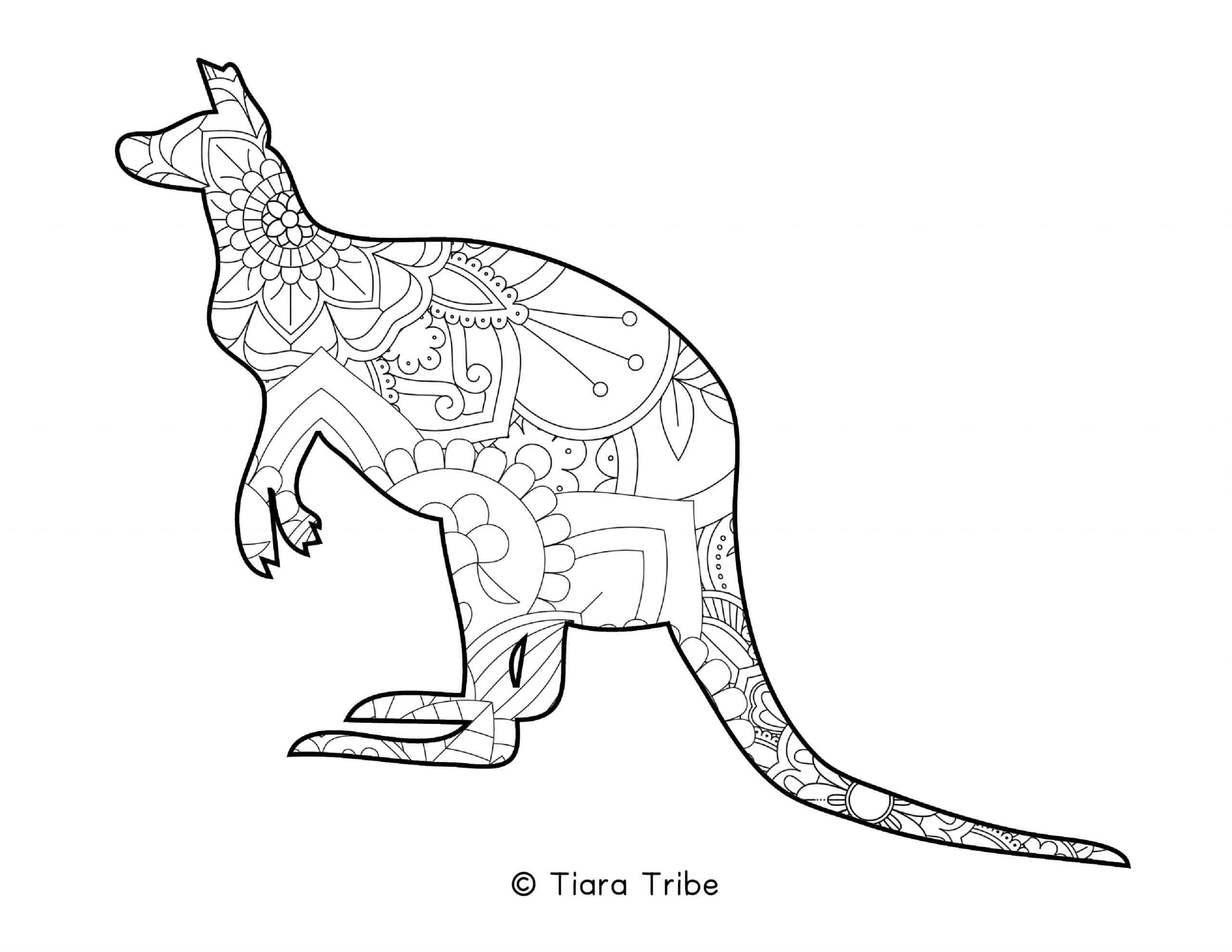 Kangaroo Mandala Coloring Page Mandala Coloring Pages Mandala Coloring Coloring Pages [ 1978 x 2560 Pixel ]
