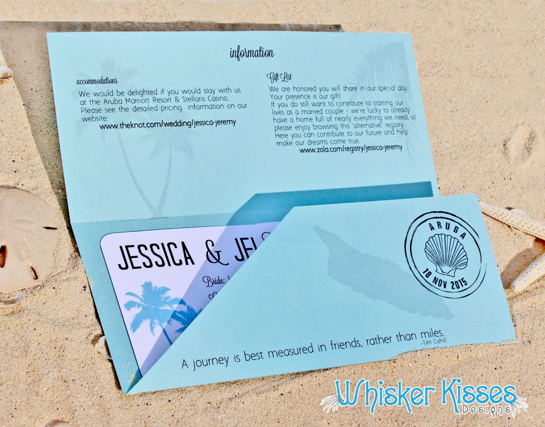 Boarding Pass Wedding Invitation, Save the Date, Travel Theme ...
