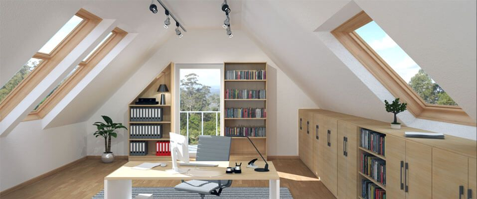 Ikea Kinderbett Mammut Rosa ~ Möbel Lösung für Dachschrägen - küche mit dachschräge planen