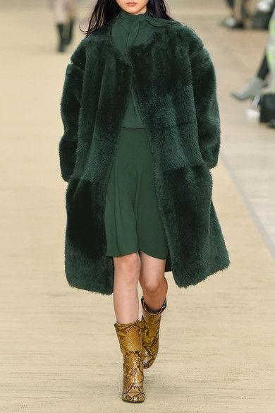 Forest-green shearling Slips on 100% shearling (Sheep); lining1 ...