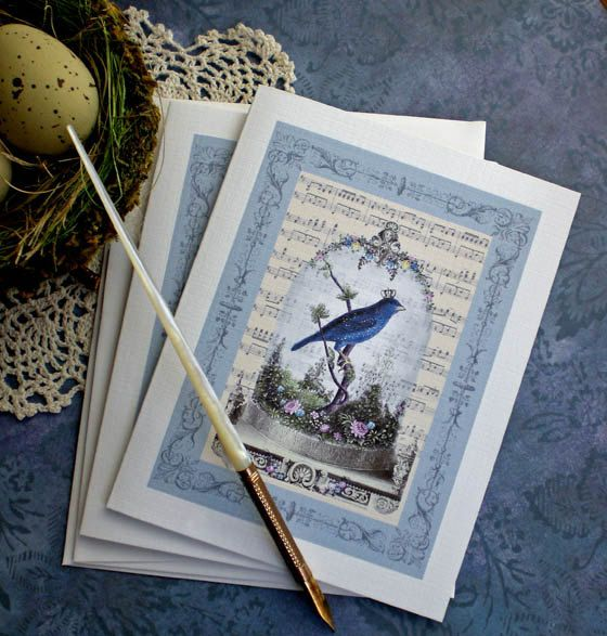 Bird Note Cards  Vintage Bird Cards  Blank by CreativeVisions, $6.95