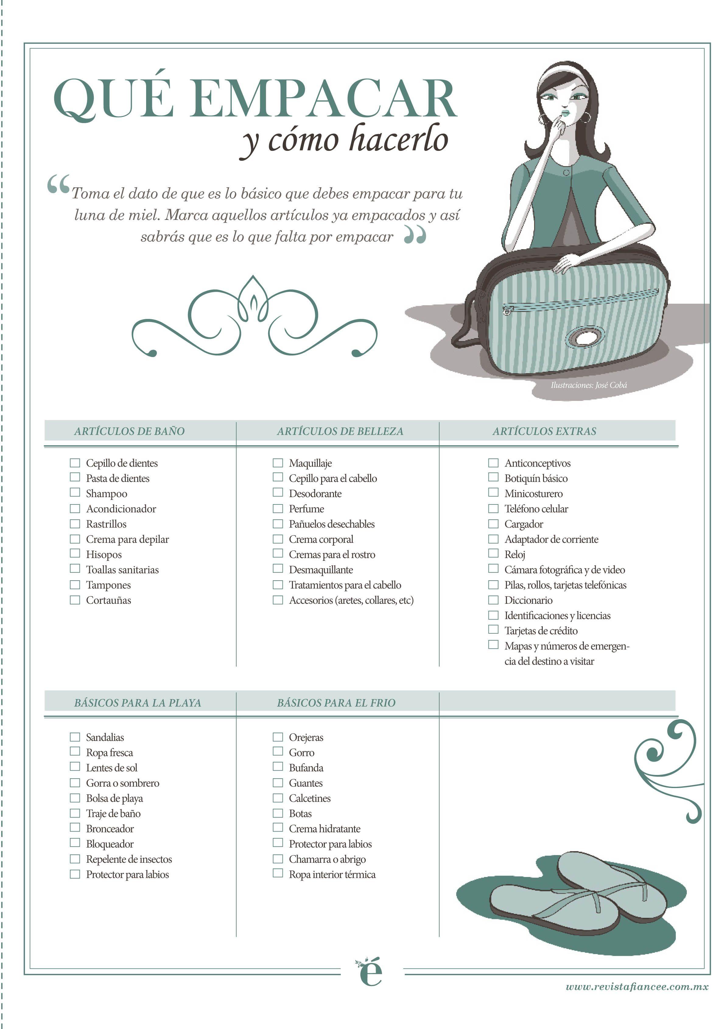 ¿Ya Sabes Qué Debes Empacar Para Tu Luna De Miel?