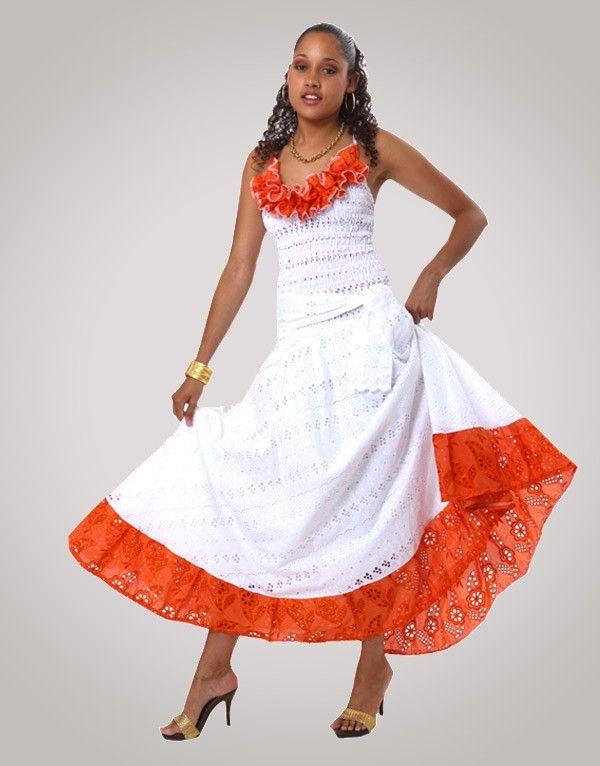 Robe créole broderie AURELIE | creole clothes ideas | Pinterest