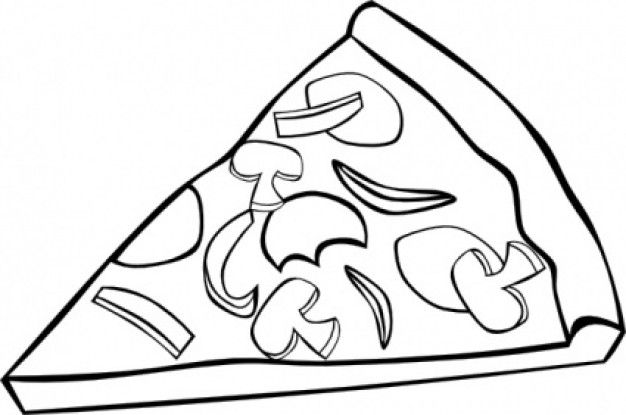 Best Pizza Clipart Black And White 6386 Clipartion Com Food Coloring Pages Pizza Coloring Page Food Clipart