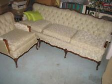 Antique Vintage French Provincial Sofa Couch And Chair Set $850 No Bids.