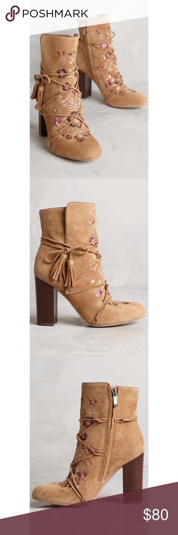 c8317bb50 Sam Edelman Winnie Embroidered Ankle Boot New