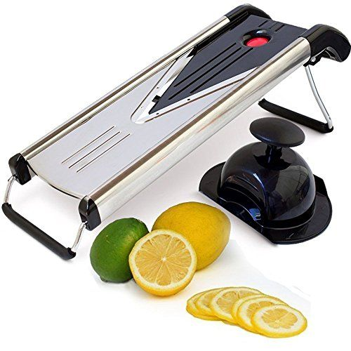 Kitchen Elite V Blade Mandoline Slicer  Deluxe Heavy Duty Alluring Kitchen Mandoline Design Inspiration