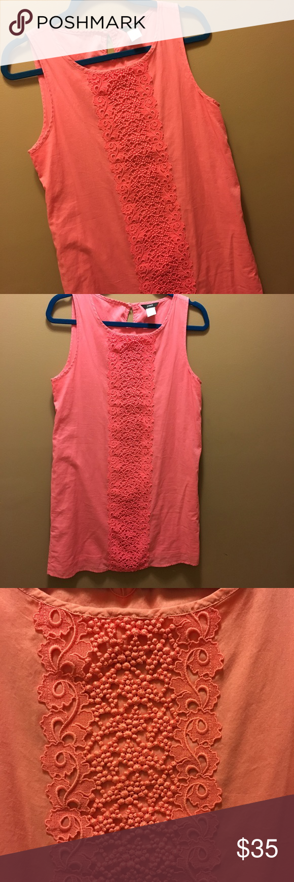 Coral Sundress Great condition, offers welcome! J. Crew Dresses Mini
