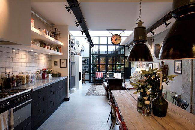 loft industriel vintage home cuisine industrielle. Black Bedroom Furniture Sets. Home Design Ideas