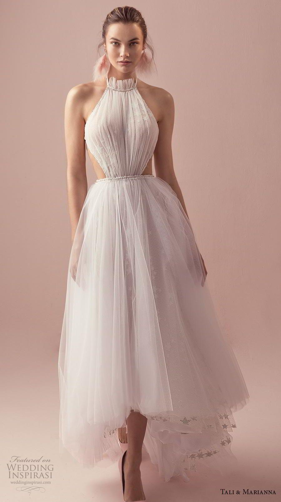 Tali Marianna 2018 Wedding Dresses The One Bridal Collection Wedding Inspirasi Short Wedding Dress Halter Wedding Dress Wedding Dresses High Low [ 1604 x 900 Pixel ]