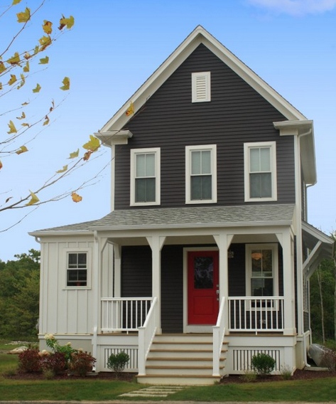 Dark Grey Siding White Trim 3 Dream Home Colors Im So Doing This When I Move