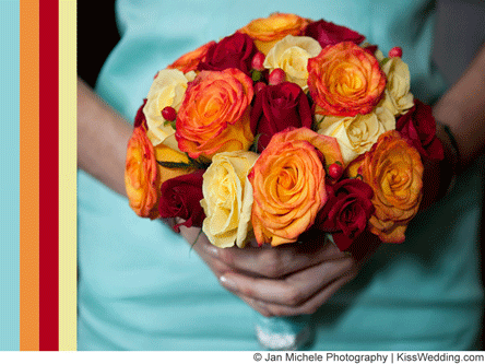 Spring bridal bouquets by wedding color simple stylish for Simple fall bridesmaid bouquets