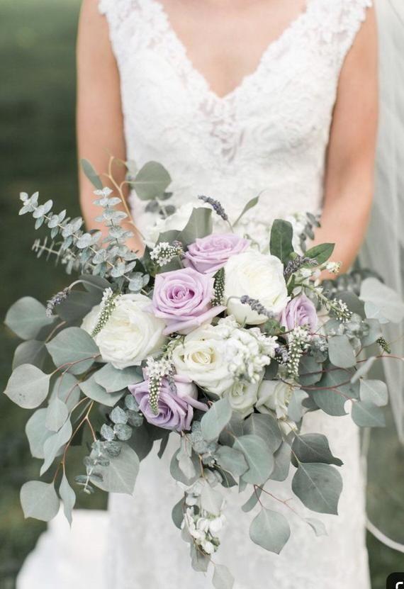 Bridal bouquet, lavender bouquet, bride bouquet, ivory bouquet, greenery bouquet, wedding bouquet, romantic bouquet, elegant bouquet