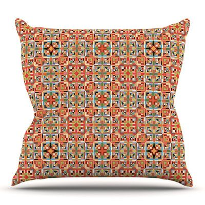 East Urban Home Henson by Allison Soupcoff Outdoor Throw Pillow