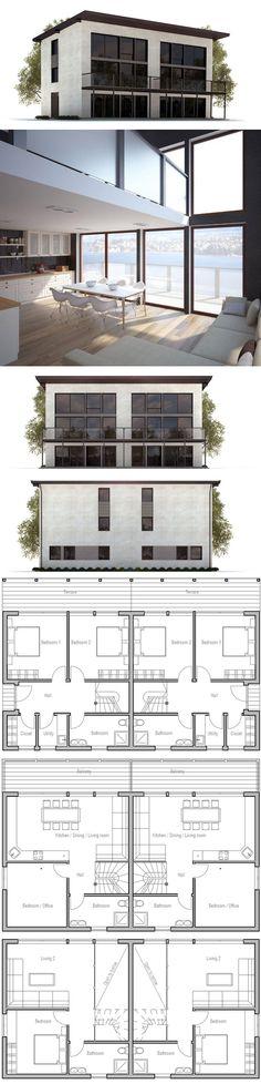 Duplex Home Plan Houses plans Pinterest Duplex house plans