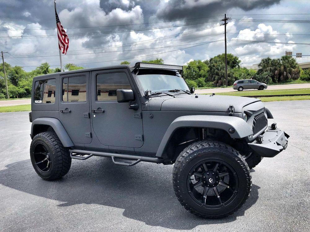Ebay Jeep Wrangler Unlimited Rhino Custom Lifted Leather Line X