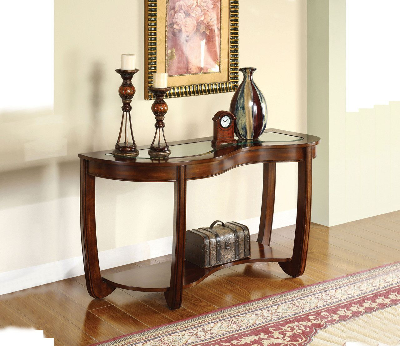 Hallway furniture habitat  Sofa Table Crystal Falls Collection CMS The gentle curves of