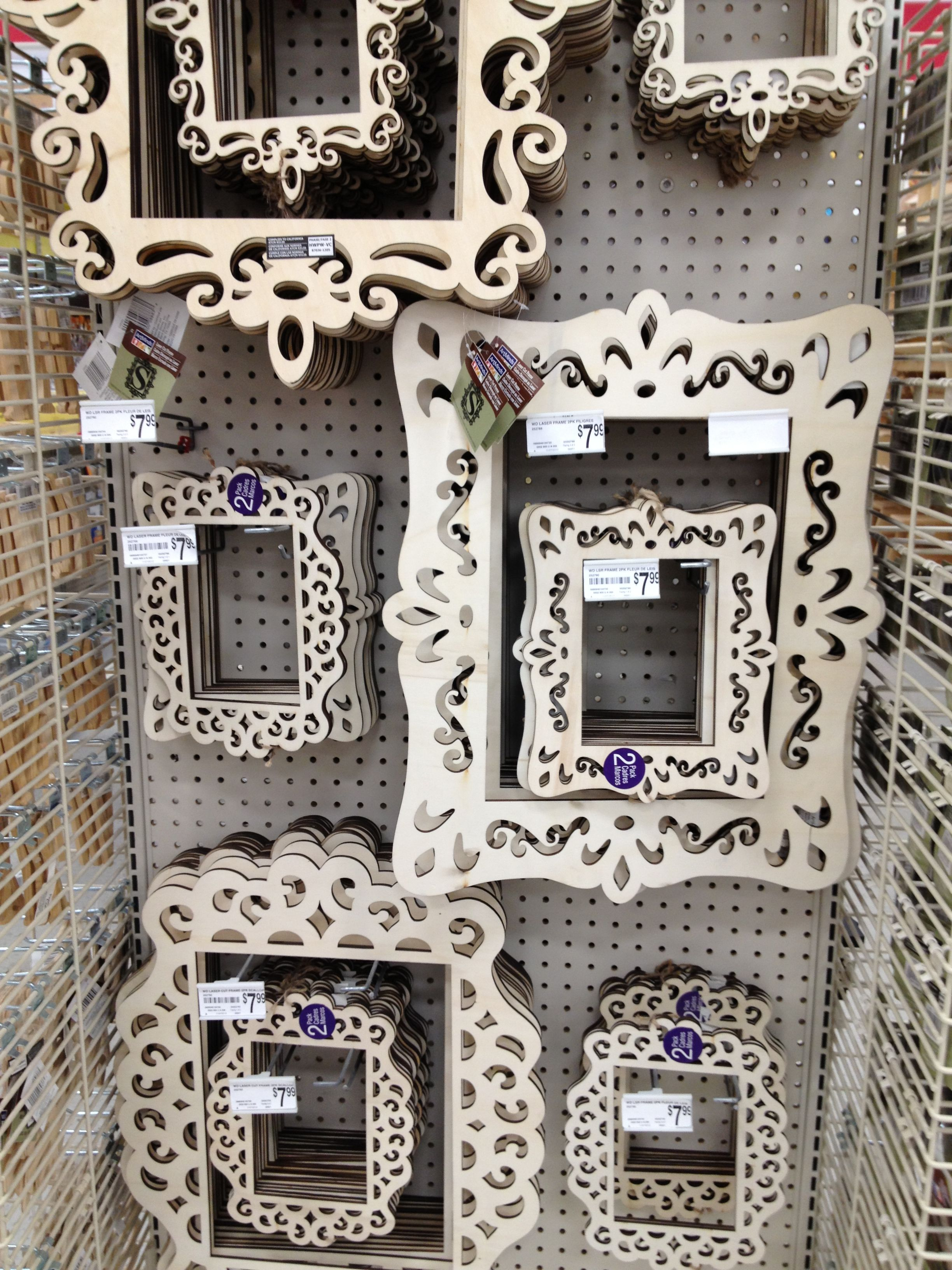 Lazer cut wood frames at Michael\'s . | Home Decor | Pinterest ...