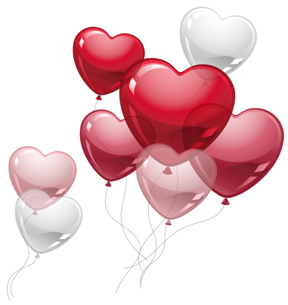 Resultado de imagen para globos corazones png
