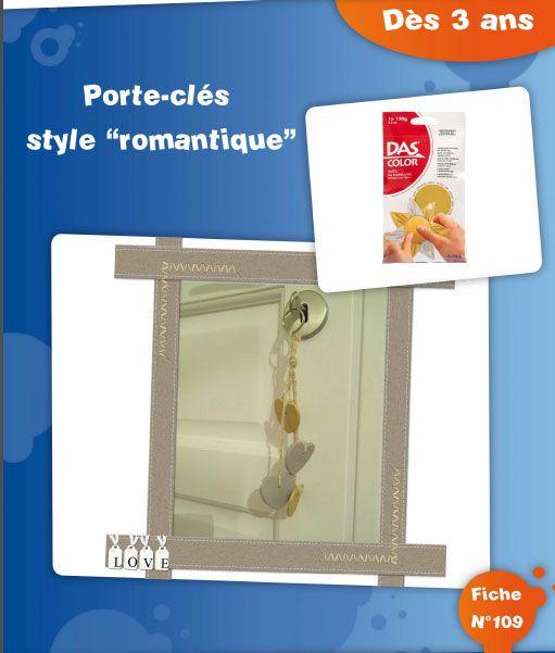 Porte-clés style romantique – Dès 3 ans – Fiche N°109