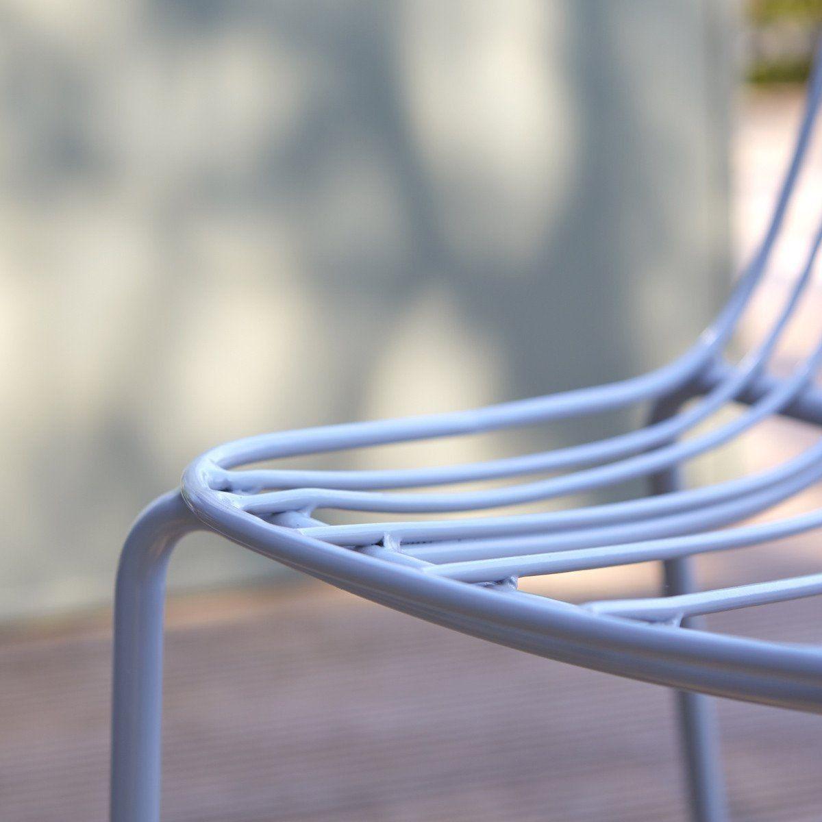 Chaise De Jardin En Metal Arty Bleu Grey Chaise Jardin Metal