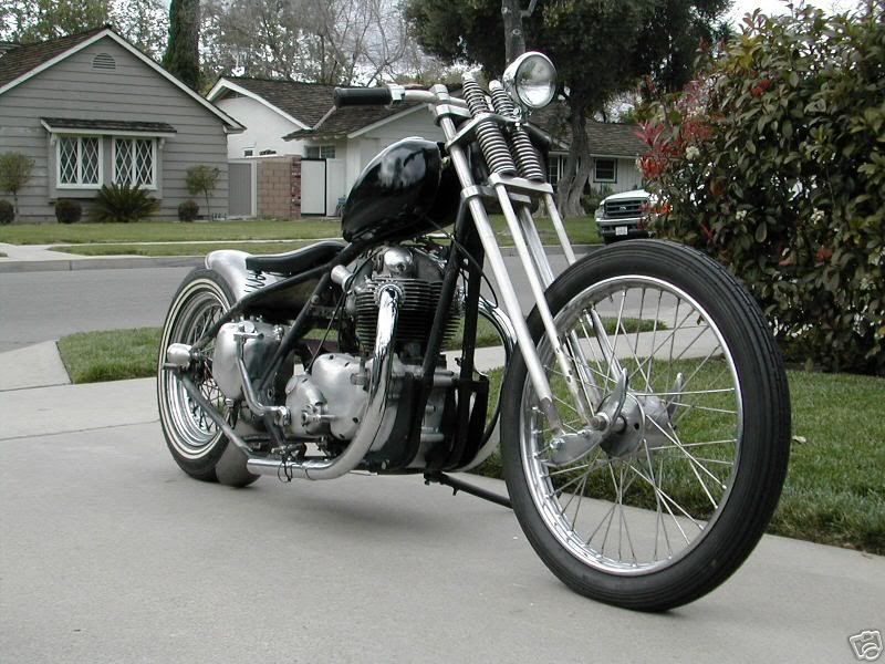 Norton Commando Chopper With Springer Front End Slip Through My Fingers Never Again