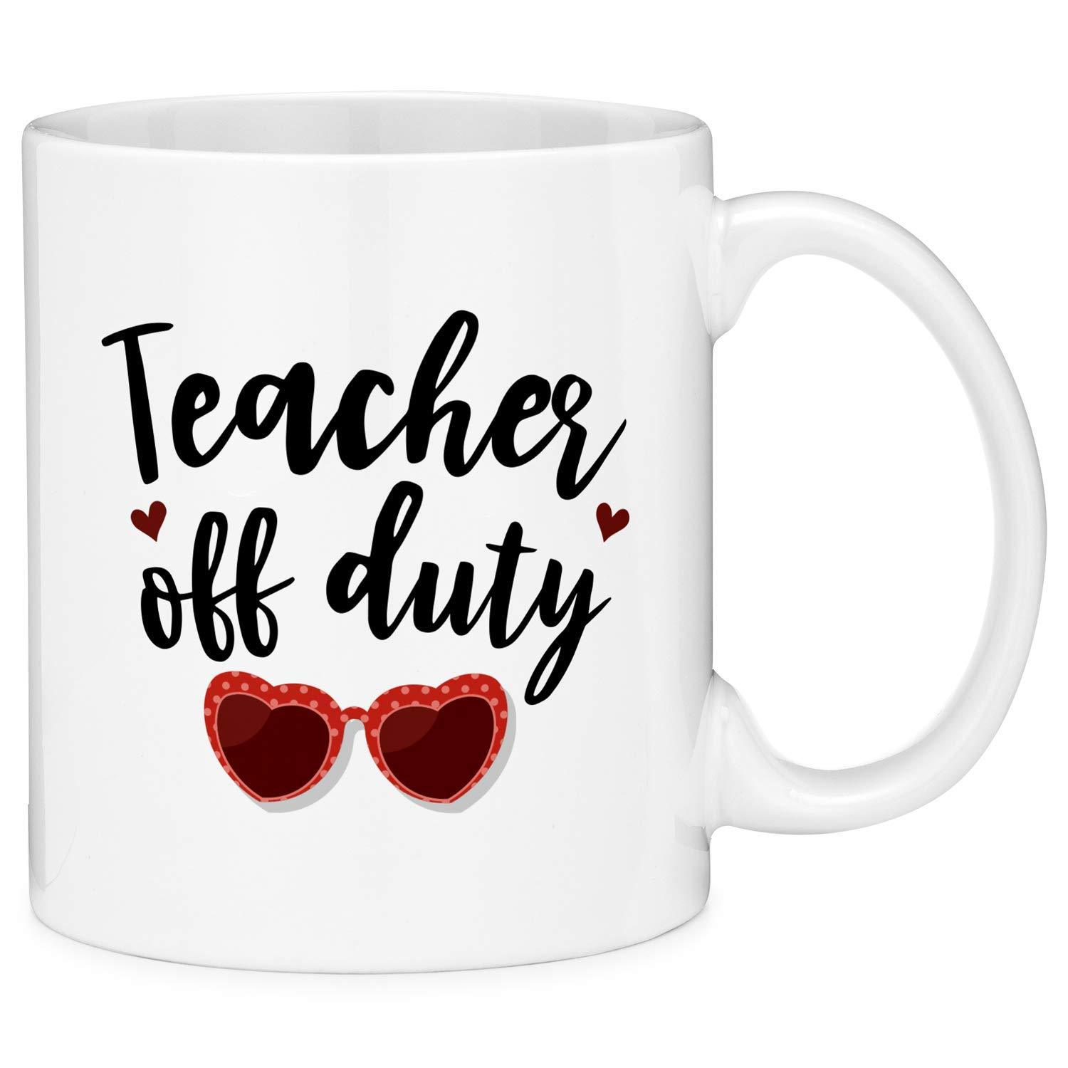 64a8537889d Teacher Off Duty Heart Sunglasses Funny Gift Coffee Mug | Products ...