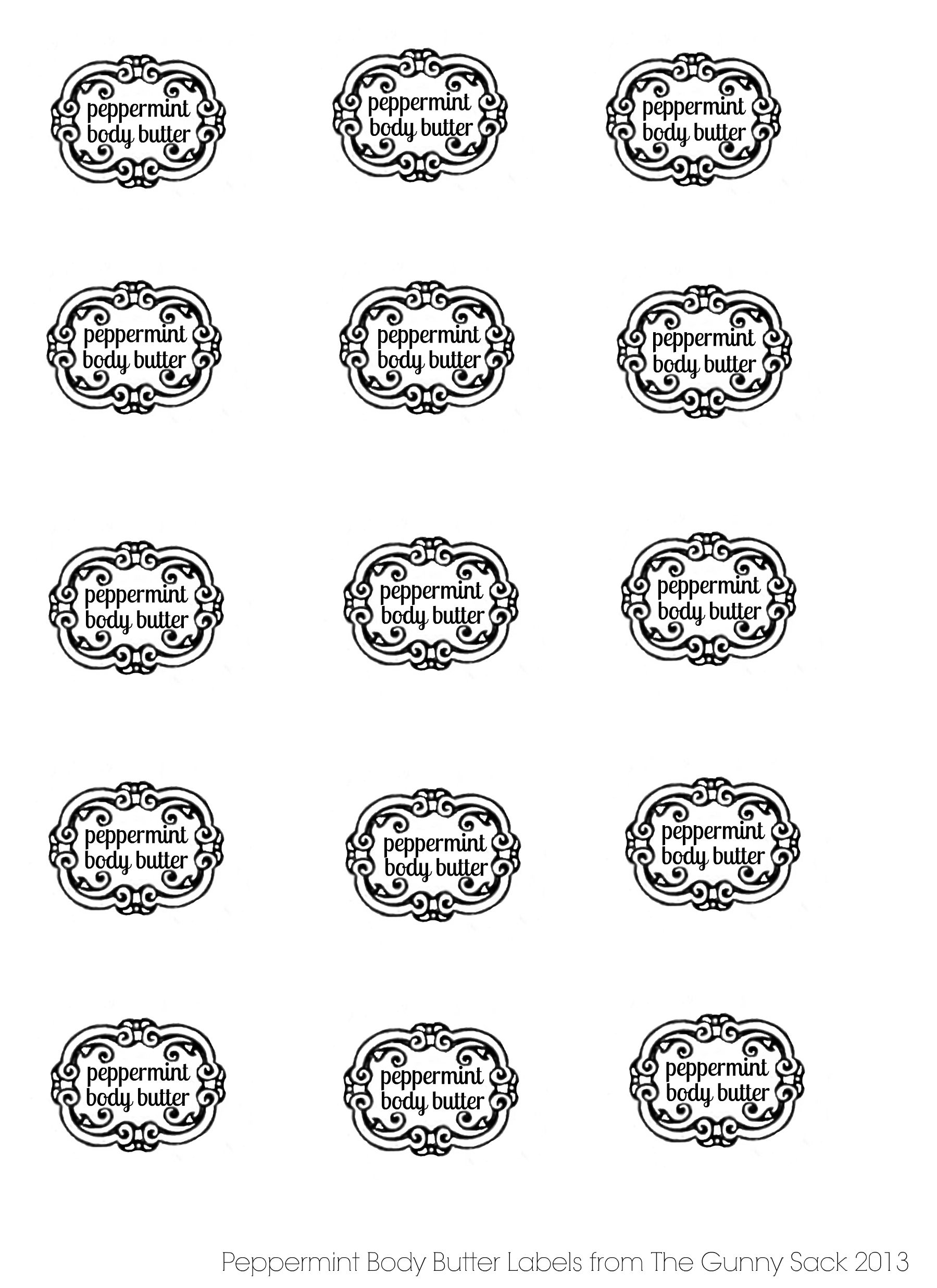 Peppermint Body Butter Labels From Thegunnysack Com Peppermint Sugar Scrubs Sugar Scrub Labels Body Butter Labels