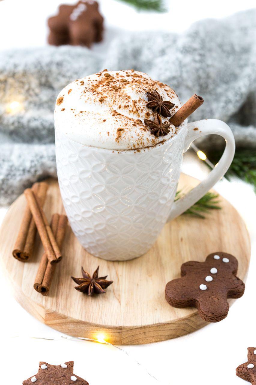 Lebkuchen-Latte & der erste Schnee | Weihnachtsgetränke, Heiße tasse ...
