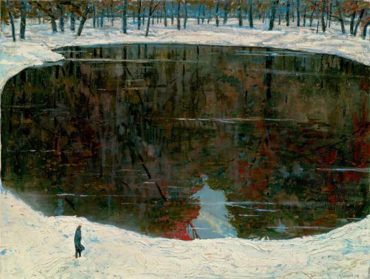 Ilya Glazunov (Russian, b. 1930), The Lake of Tears, 1988. Oil on canvas, 74 × 99.5 cm.